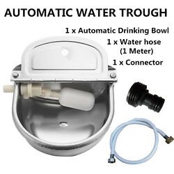 AUTOMATIC WATER TROUGH STAINLESS STEEL BOWL AUTO FOR DOG SHEEP CHICKEN PIG