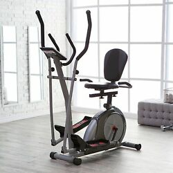 3 in1 Workout Fitness Machine Exercise Equipment Cardio Elliptical Bike Body Gym