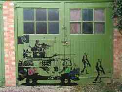Banksy Army Love Vw Camper Soldiers A3 Sign Aluminium Metal Large