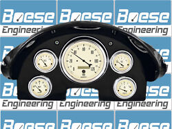 1956 Ford Fairlane Gauge Adapter Rings W/ Auto Meter Antique Beige Instruments