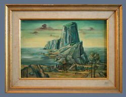 Original Antique Oil Painting On Panel Board By Frederic Taubes 1900-1981