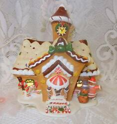 Owell Limit Ed Lighted Christmas Gingerbread House Cookie Candy Village Valley