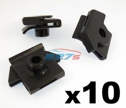 10x Bumper to Wing Mounting Plastic Grommet Nut for Screws- Fits some Nissan
