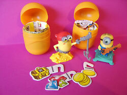kinder egg toys x 2 new minions pirate