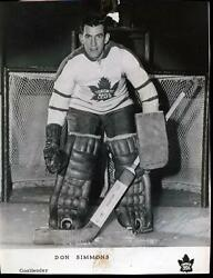 Rare 1960and039s Don Simmons Toronto Maple Leafs Goalie Signed Team Issued Photo