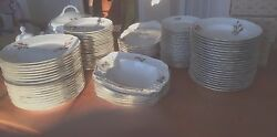Rosenthal China Classic Germany 18 Place Settings + Serving Pieces Rose Floral