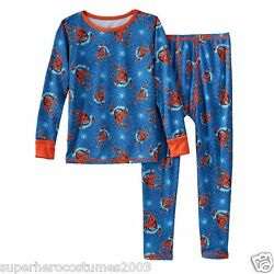 The Amazing Spider-Man Climate Smart Base Layer 2 Piece Set Cuddl Duds Marvel
