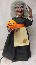 Vintage Halloween Animated Display 25 Motion-ette Telco Lighted Wicked Witch