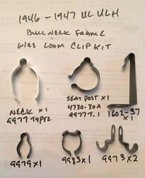 Harley 1946-1947 Bull Neck Ul Ulh Main Wire Loom Clip And Clamp Kit 1602-37 9977