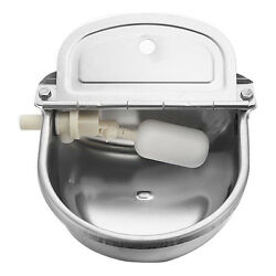 8PCSLOT AUTOMATIC WATER TROUGH STAINLESS BOWL ---FARM ANIMAL DOG SHEEP HORSE