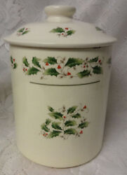 Vtg Masde Japan Christmas Holiday Canister Container Cookie Jar W Original Box