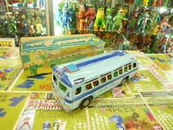 tin toy yonezawa avenue bus from japan