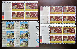 Lot 4x Touro Assisi Plate Blocks 1x Sc 2017 & 3x 2023 US Unused Stamps MNH 20c