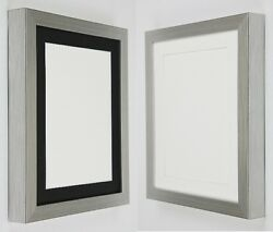Silver Picture Poster Photo Frames With Black Or White Mounts To Hang Or Stand
