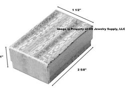 Wholesale Lot 600 Silver Cotton Fill Jewelry Display Packaging Gift Boxes 2 5/8