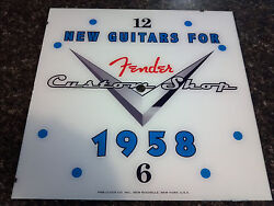 New 15 Fender Guitars Square Glass Clock Face For Pam Gibson