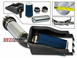 4 Blue Heat Shield Cold Air Intake + Filter For 99-03 Excursion 7.3l Turbo V8