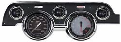 Classic Instruments 1967 - 68 Ford Mustang Gauge Cluster Autocross Gray Mu67axg