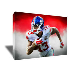 New York Giants Odell Beckham Jr Poster Photo Painting On Canvas Wall Art Print