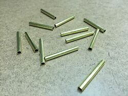 12 Pcs Brass Tubing 1.25quot; Long 5 32quot; OD 1 8quot; ID 1 64quot; Wall For Player Piano