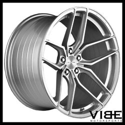 20 Stance Sf03 20x10.5 Silver Forged Concave Wheels Rims Fits Audi B8 A5 S5