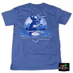 NEW DRAKE WATERFOWL SOUTHERN COLLECTION NON TYPICAL DEER T-SHIRT SLATE SMALL $22.99