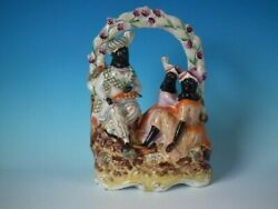 Staffordshire Pottery Group Of A Travelling Family