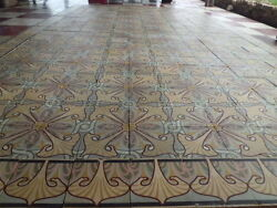 Antique Encaustic Tiles Panel 336 pcs 146¨ x 85¨ Floor or Wall (cod 8)