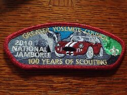 MINT 2010 JSP Greater Yosemite council Red Mylar Border Car