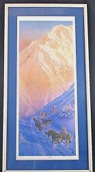 Charles Gause Iditarod Print Co-signed And Numbered By Jeff King 106 / 1049