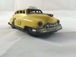 Vintage Yellow Taxi Cab Tin Friction