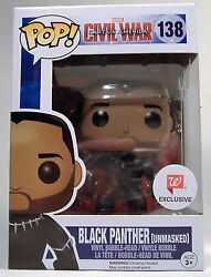 BLACK PANTHER UNMASKED FUNKO POP WALGREENS VARIANT CAPTAIN AMERICA CIVIL WAR