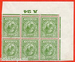 Sg. 427 Wi. N43 1. 9d Olive Green. A Fine Mounted Mint 3 Stamps Unmounted