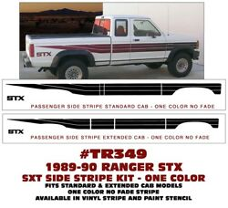 Tr349 Ford Truck - Ranger Stx - Side Stripe Decal Kit Or Paint Stencil