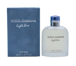 Light Blue By Dolce And Gabbana Dandg 6.7 Oz Edt Cologne For Men New In Box