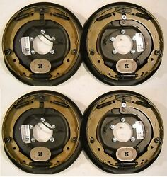 4 X 12x 2 Electric Trailer Axle Backing Plates Complete Brakes Left And Rt Rv