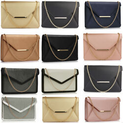 Women's Designer Envelope Clutch Evening Purse Ladies Night Out Wedding Bags
