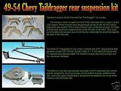 Gambino Kustoms 1949-1954 Chevy Taildragger Kit With Air Bags And Shock Mounts