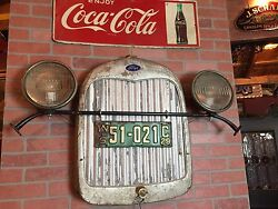 Vintage Ford With Wi Plates Retail Automotive Wall Art Display Watch Video