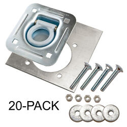 D-ring Recessed 6000 Lb. Tie Down And Backing Plate W/ 2-1/2 Hardware 20-pack