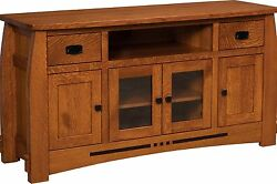 Amish Mission Colebrook Solid Wood Tv Stand Console Cabinet 50, 60, 72