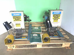 Amp Crimper Press Wire Terminal Machines Set Of 2 1-453973-2-at And 453973-3-au