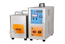 New 25KW 30-80KHz Dual Station High Frequency Induction Heater Furnace LH-25AB