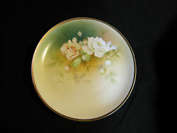 Antique Kpm Silesia Germany Hand Painted Floral Pastel Plate 1904-1927 Gold Gilt