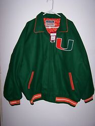 Mitchell And Ness Miami Hurricanes Wool Jacket New Size 48 Xl Retail 400