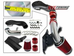 3.5 Red Heat Shield Cold Air Intake Induction Kit + Filter For 96-01 Jimmy 4.3l