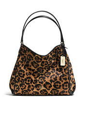 NWT Coach Ocelot Haircalf Edie Light Gold Wild Beast F35977