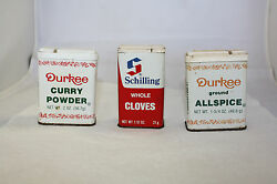 Vintage Spice Tins Schilling And Durkee