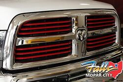 2014-2019 Ram 1500 2500 Powerwagon Chrome With Red Inserts Grille Mopar Oem