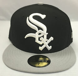New Era Logo Grand Chicago White Sox 59fifty MLB 100% Authentic  Fitted Hat